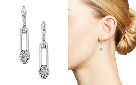 Hulchi Belluni 18K White Gold Tresore Diamond Linear Drop Earrings - Bloomingdale's_2