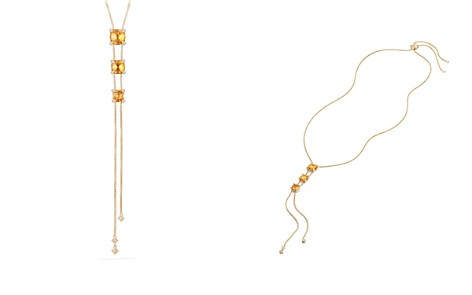 David Yurman Châtelaine Y Necklace with Citrine & Diamonds in 18K Gold - Bloomingdale's_2