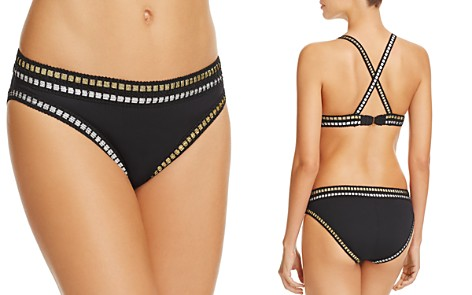 La Blanca Threading Along Hipster Bikini Bottom - Bloomingdale's_2
