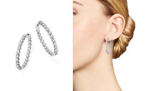 Bloomingdale's Diamond Inside Out Hoop Earrings in 14K White Gold, 3.0 ct. t.w. - 100% Exclusive _2