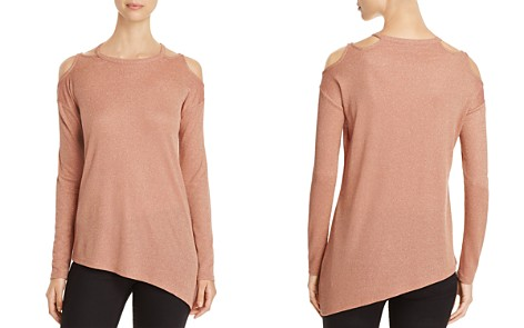 Love Scarlett Metallic Cold Shoulder Sweater - Bloomingdale's_2