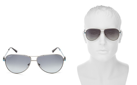 Salvatore Ferragamo Aviator Sunglasses, 62mm - Bloomingdale's_2
