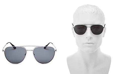 Prada Men's Refined Brow Bar Aviator Sunglasses, 57mm - Bloomingdale's_2