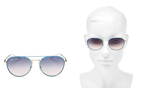 Ray-Ban Brow Bar Round Sunglasses, 55mm - Bloomingdale's_2
