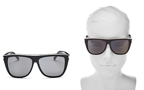 Saint Laurent Flat Top Square Sunglasses, 59mm - Bloomingdale's_2