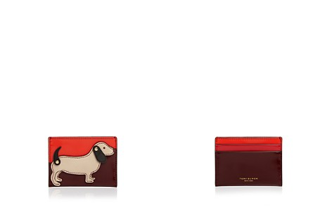 Tory Burch Dachshund Slim Leather Card Case - Bloomingdale's_2