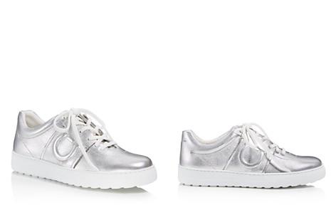 Salvatore Ferragamo Women's Metallic Leather Lace Up Sneakers - Bloomingdale's_2