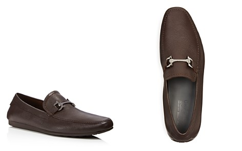 Salvatore Ferragamo Men's Cancun 2 Gancini Tumbled Leather Drivers - Bloomingdale's_2