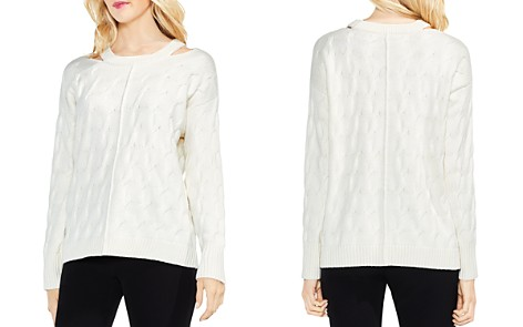 VINCE CAMUTO Cutout Cable Sweater - Bloomingdale's_2