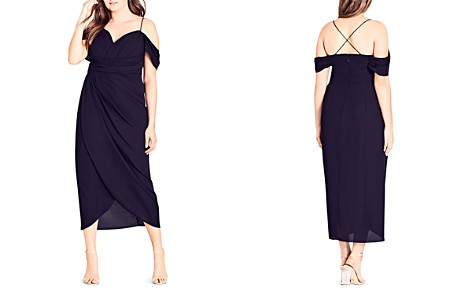 City Chic Entwine Ruched Cold-Shoulder Maxi Dress - Bloomingdale's_2