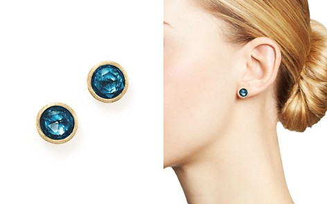 Marco Bicego 18K Yellow Gold Jaipur London Blue Topaz Stud Earrings - Bloomingdale's_2