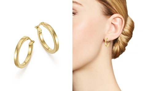 Bloomingdale's 14K Yellow Gold Square Tube Hoop Earrings - 100% Exclusive_2