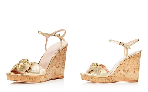 kate spade new york Women's Janae Metallic Leather Platform Wedge Sandals - Bloomingdale's_2