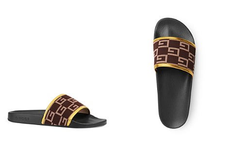 Gucci Men's Canvas and Leather Slides - Bloomingdale's_2