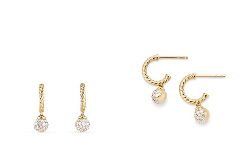 David Yurman Solari Hoop Pavé Earrings with Diamonds in 18K Gold - Bloomingdale's_2