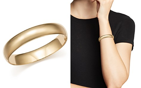 Bloomingdale's Polished Wide Bangle in 14K Yellow Gold - 100% Exclusive_2