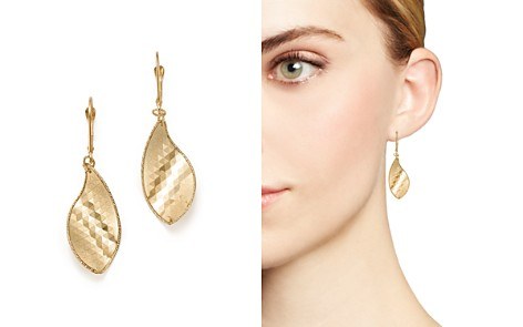 Bloomingdale's Geometric Leaf Earrings in 14K Yellow Gold - 100% Exclusive_2