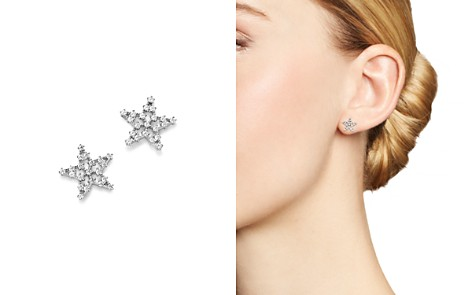 Bloomingdale's Diamond Star Stud Earrings in 14K White Gold, 0.20 ct. t.w. - 100% Exclusive _2