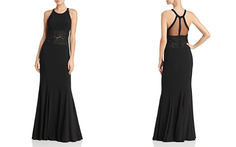 Avery G Mesh-Detail Gown - Bloomingdale's_2