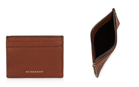Burberry Grainy Leather and Canvas Check Card Case - Bloomingdale's_2
