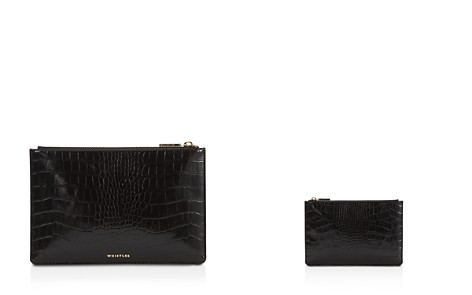 Whistles Shiny Small Croc-Embossed Leather Clutch - Bloomingdale's_2