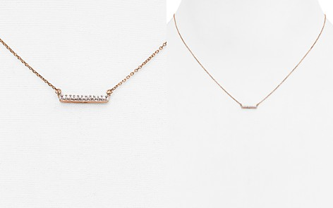 "Adina Reyter 14K Rose Gold Pavé Diamond Bar Necklace, 15"" - Bloomingdale's_2"