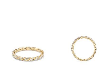 David Yurman Paveflex Ring with Diamonds in 18K Gold - Bloomingdale's_2