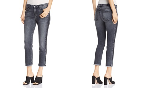 Parker Smith Cropped Straight-Leg Jeans in Black Crush - Bloomingdale's_2