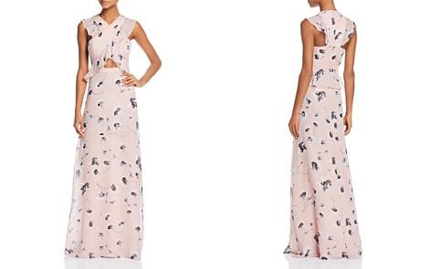 BCBGMAXAZRIA Ruffle Cross-Front Gown - Bloomingdale's_2
