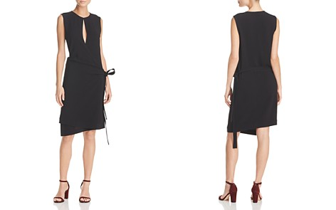 Theory Keyhole Wrap Dress - Bloomingdale's_2