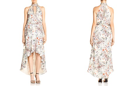 Haute Hippie Wished Upon Floral-Print High/Low Hem Silk Dress - Bloomingdale's_2