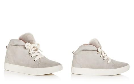 JAGGAR Women's Suede & Faux-Fur Mid Top Sneakers - Bloomingdale's_2