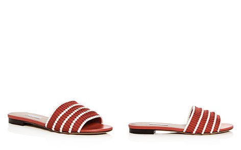 Tabitha Simmons Women's Sprinkles Pleated Ribbon Slide Sandals - Bloomingdale's_2