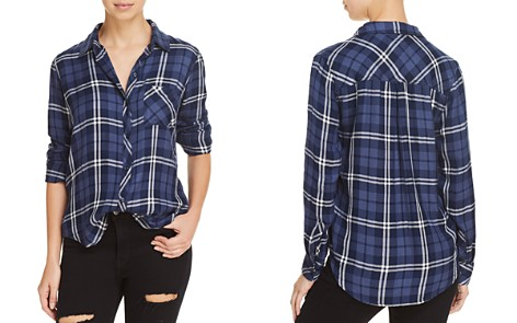 Rails Hunter Metallic Plaid Shirt - Bloomingdale's_2