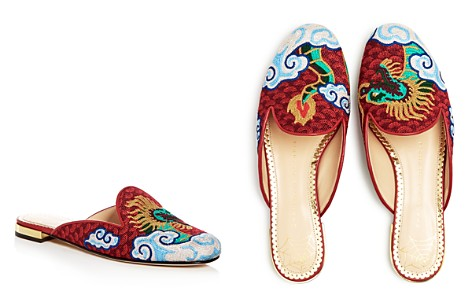 Charlotte Olympia Women's Dragon Embroidered Mules - Bloomingdale's_2