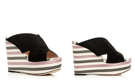 Sergio Rossi Women's Alma Suede Wedge Platform Slide Sandals - 100% Exclusive - Bloomingdale's_2
