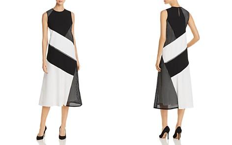 Lafayette 148 New York Nuri Laser-Cut Color-Block Midi Dress - Bloomingdale's_2