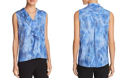 Elie Tahari Adreena Ruffled Sleeveless Silk Blouse - 100% Exclusive - Bloomingdale's_2