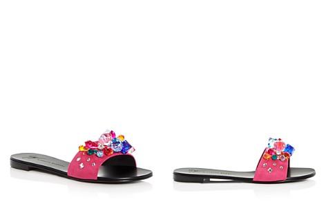 Giuseppe Zanotti Women's Embellished Suede Slide Sandals - Bloomingdale's_2