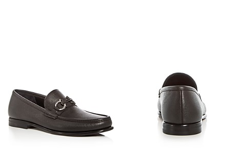 Salvatore Ferragamo Men's Crown Leather Moc Toe Loafers - Bloomingdale's_2