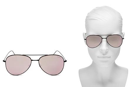 Illesteva Women's Wooster Mirrored Brow Bar Aviator Sunglasses, 58mm - Bloomingdale's_2