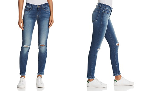 FRAME Le Skinny De Jeanne Double Raw-Edge Jeans in Lambeth - 100% Exclusive - Bloomingdale's_2