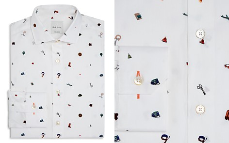Paul Smith 1970s Print Slim Fit Dress Shirt - Bloomingdale's_2
