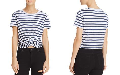 Splendid Striped Twist-Front Cropped Tee - 100% Exclusive - Bloomingdale's_2