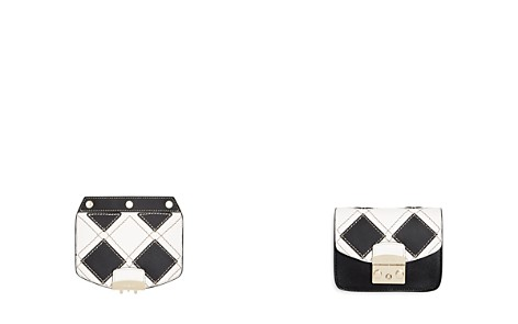 Furla MY PLAY Interchangeable Metropolis Mini Embossed Leather Flap - Bloomingdale's_2