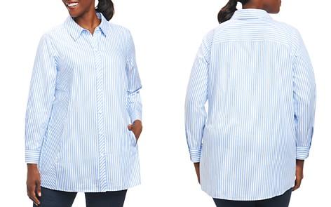 Foxcroft Plus Long-Sleeve Stripe Tunic Blouse - Bloomingdale's_2