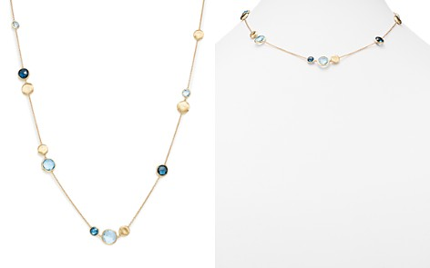 "Marco Bicego 18K Yellow Gold Jaipur Mixed Blue Topaz Collar Necklace, 16"" - 100% Exclusive - Bloomingdale's_2"