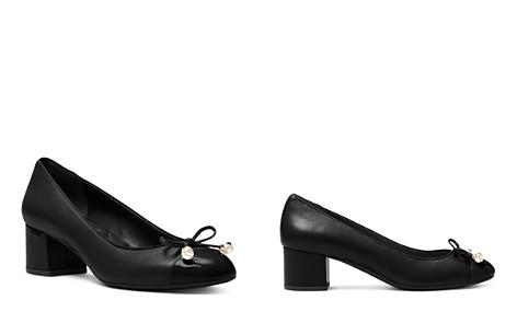 MICHAEL Michael Kors Women's Gia Leather Cap Toe Mid Heel Pumps - Bloomingdale's_2