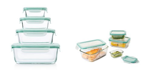 OXO 8-Piece Smart Seal Glass Rectangle Container Set - Bloomingdale's_2