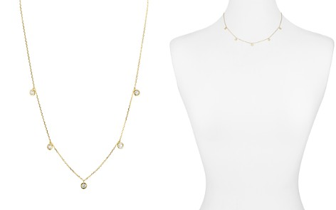 """AQUA Sterling Silver Thin Chain Circle Drop Necklace, 16"""" - 100% Exclusive - Bloomingdale's_2"""